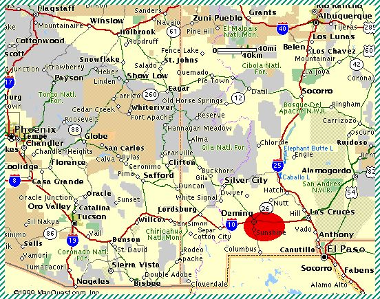New Mexico land for sale: SeAzSwNmMap