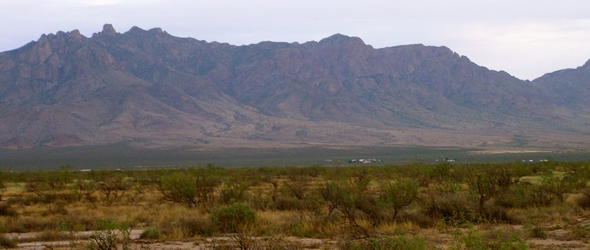 New Mexico land for sale: looking SW at Florida Mtns