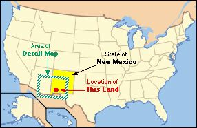 New Mexico land for sale; UsaNmMap